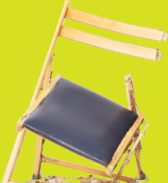 טוטאל הדברה | נזק של טרמיטים לכיסא עץ